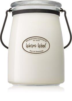 Milkhouse Candle Co. Creamery Warm Wool vela perfumada  624 g Butter Jar