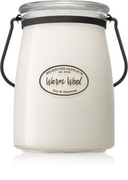 Milkhouse Candle Co. Creamery Warm Wool vonná svíčka Butter Jar 624 g