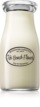 Milkhouse Candle Co. Creamery Tiki Beach Flower bougie parfumée Milkbottle 226 g