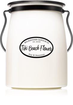 Milkhouse Candle Co. Creamery Tiki Beach Flower ароматизована свічка  Butter Jar 624 гр