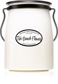 Milkhouse Candle Co. Creamery Tiki Beach Flower scented candle Butter Jar