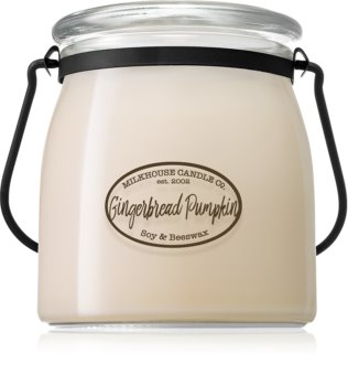 Milkhouse Candle Co. Creamery Gingerbread Pumpkin dišeča sveča  Butter Jar