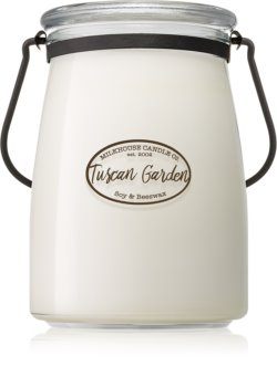 Milkhouse Candle Co. Creamery Tuscan Garden scented candle Butter Jar 624 g