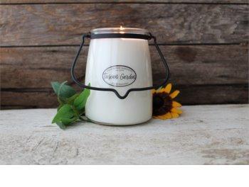Milkhouse Candle Co. Creamery Tuscan Garden mirisna svijeća 624 g Butter Jar