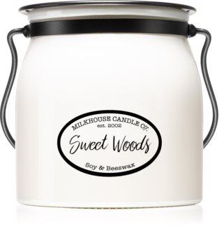 Milkhouse Candle Co. Creamery Sweet Woods illatos gyertya  454 g Butter Jar