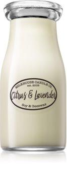 Milkhouse Candle Co. Creamery Citrus & Lavender dišeča sveča  Milkbottle