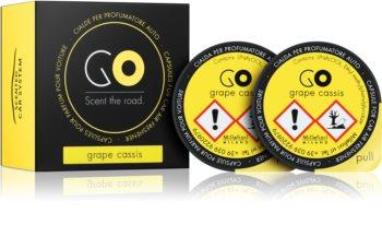 Millefiori GO Grape Cassis Auto luchtverfrisser  2 st Vervangende Vulling