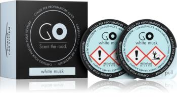 Millefiori GO White Musk vôňa do auta 2 ks náhradná náplň