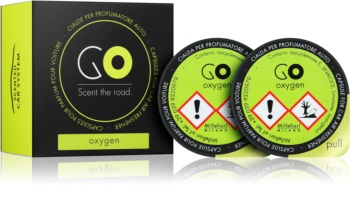 Millefiori GO Oxygen Car Air Freshener 2 pc Refill