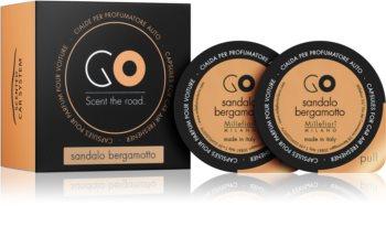 Millefiori GO Sandalo Bergamotto vôňa do auta 2 ks náhradná náplň