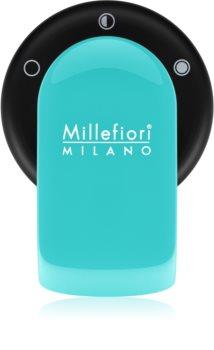 Millefiori GO soporte para ambientador de coche   con recarga Acquamarina (Sandalo Bergamotto)