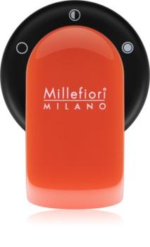 Millefiori GO držiak na vôňu do auta   s náplňou Arancione (Sandalo Bergamotto)