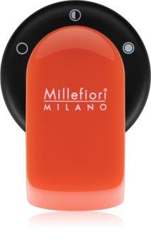 Millefiori GO support désodorisant pour voiture   avec recharge Arancione (Sandalo Bergamotto)
