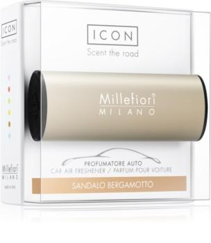 Millefiori Icon Sandalo Bergamotto vôňa do auta Metallo