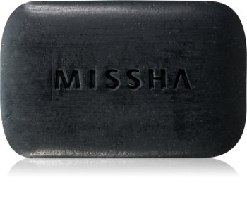 Missha Black Ghassoul čistilno milo za aknasto kožo