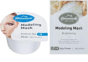 Missha Homemade Rice Powder preoblikovalna maska za obraz s posvetlitvenim učinkom