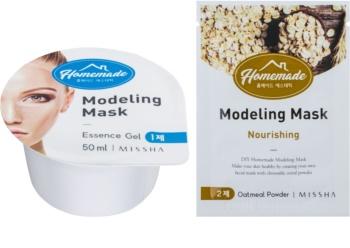 Missha Homemade Oatmeal Powder modelační pleťová maska s vyživujicím účinkem