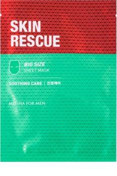 Missha For Men Skin Rescue kalmerende sheet mask voor Mannen