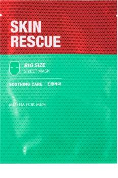 Missha For Men Skin Rescue pomirjevalna tekstilna maska za moške