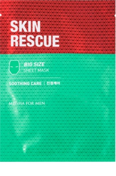 Missha For Men Skin Rescue zklidňující plátýnková maska pro muže