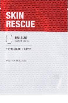 Missha For Men Skin Rescue противбръчкова платнена маска за мъже