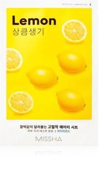 Missha Airy Fit Lemon тканинна маска для освітлення та живлення шкіри
