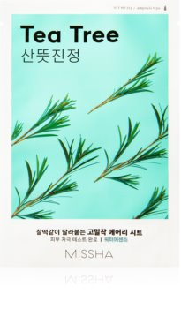 Missha Airy Fit Tea Tree Refreshing and Purifying Sheet Mask for Sensitive Skin