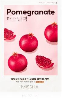 Missha Airy Fit Pomegranate arcmaszk bőrpuhító és frissítő hatással