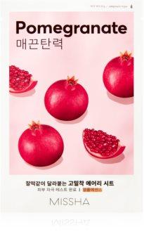 Missha Airy Fit Pomegranate maska iz platna z mehčalnim in osvežilnim učinkom