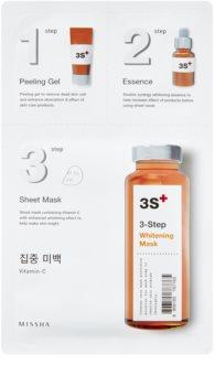 Missha 3-Step rozjasňujúca maska v troch krokoch