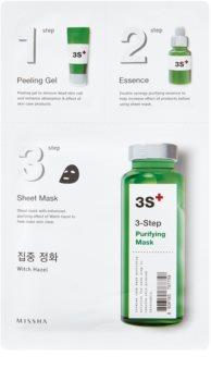 Missha 3-Step čistiaca maska v troch krokoch
