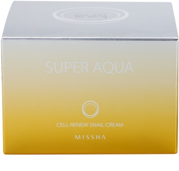 Missha Super Aqua Cell Renew Snail vyživující krém s hlemýždím extraktem