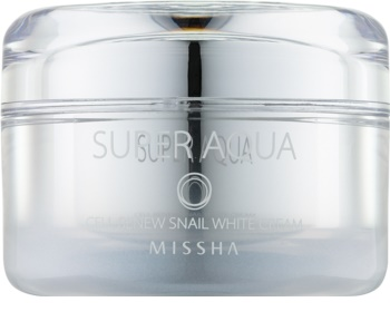 Missha Super Aqua Cell Renew Snail rozjasňujúci krém s extraktom zo slimáka