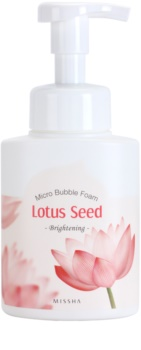 Missha Lotus Seed Brightening Cleansing Mousse with Microbubbles