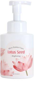 Missha Lotus Seed rozjasňující čisticí pěna s micro bublinkami