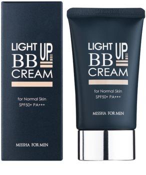 Missha For Men Light Up crema BB pentru barbati SPF 50+