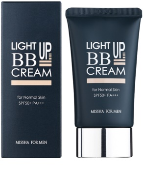 Missha For Men Light Up crema BB pentru barbati SPF 50+