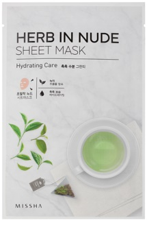 Missha Herb in Nude maschera in tessuto effetto idratante