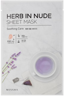 Missha Herb in Nude plátýnková maska se zklidňujícím účinkem