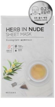 Missha Herb in Nude maska iz platna z učvrstitvenim učinkom