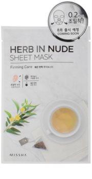 Missha Herb in Nude платнена маска със стягащ ефект