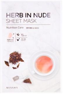 Missha Herb in Nude maska iz platna z hranilnim učinkom