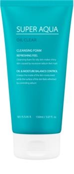 Missha Super Aqua Oil Clear osvěžující čisticí pleťová pěna