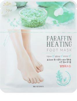 Missha Paraffin Heating máscara de parafina para pés com efeito de aquecimento