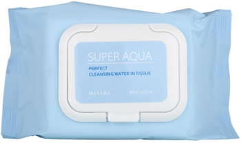 Missha Super Aqua Perfect čistilni robčki za obraz z vlažilnim učinkom
