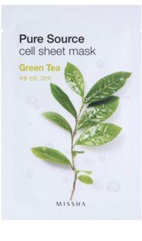 Missha Pure Source тканинна маска зі заспокоюючим ефектом