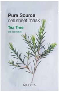 Missha Pure Source Zellschichtmaske mit reinigender und erfrischender Wirkung