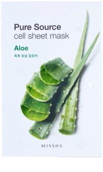 Missha Pure Source maska iz platna z vlažilnim in gladilnim učinkom