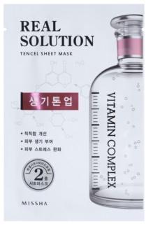 Missha Real Solution plátýnková maska s rozjasňujícím účinkem