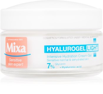 MIXA Hyalurogel Light Moisturizing Cream For Face with Hyaluronic Acid